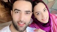عکس عاشقانه کیمیا علیزاده در آغوش همسرش