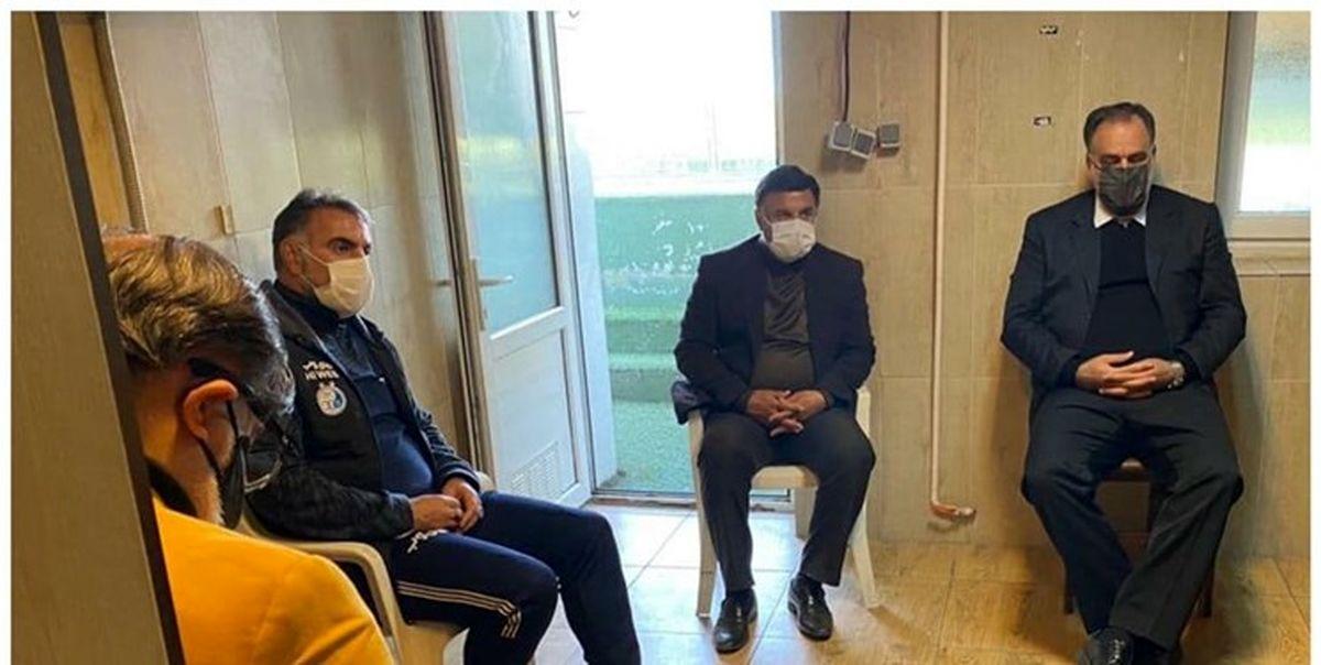 جلسه مهم در جاشیه تمرین استقلال