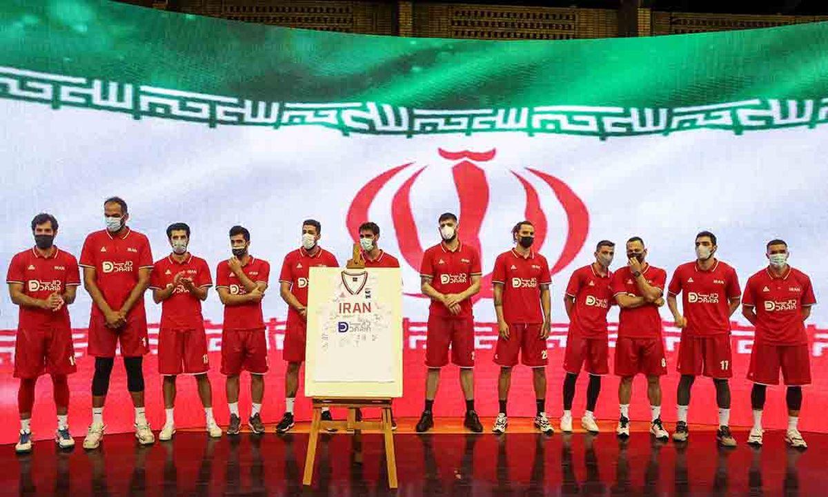 مراسم بدرقه بلند قامتان تاریخ ساز بسکتبال ایران به المپیک توکیو