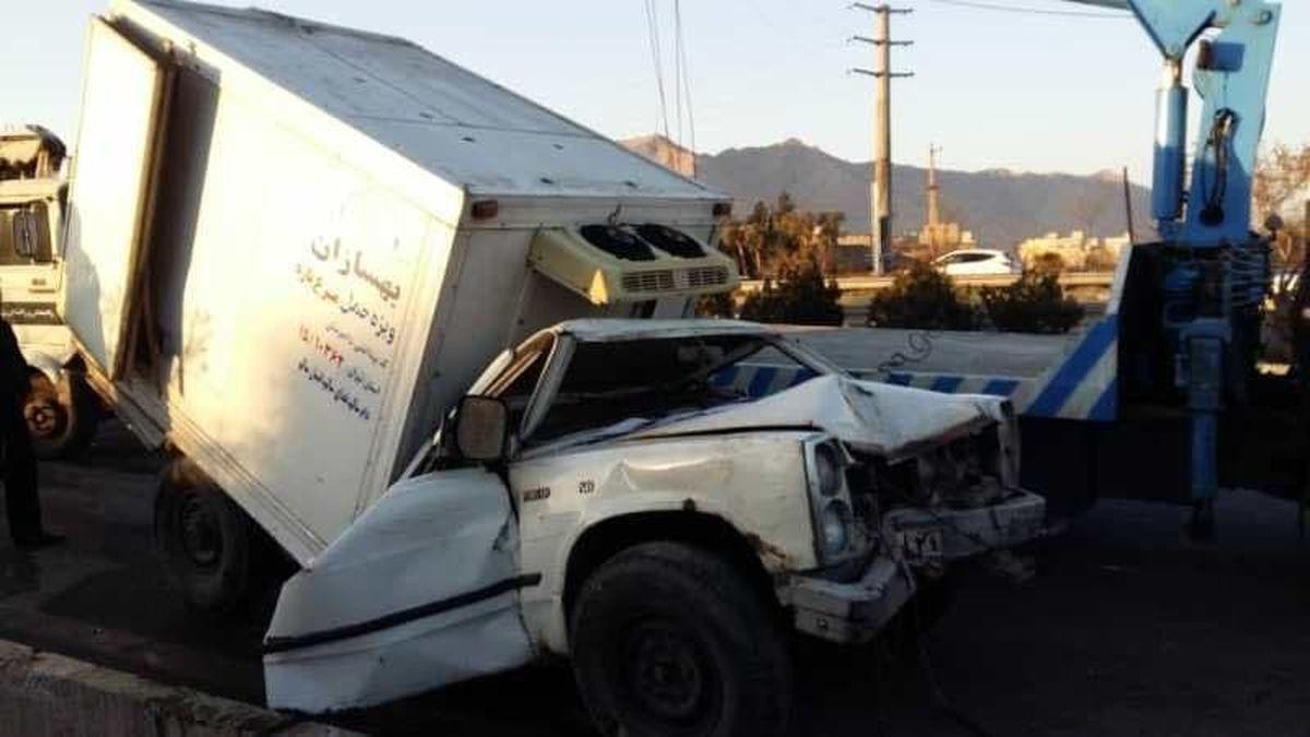 تصادف دلخراش و مرگ وحشتناک صبح تهران+تصاویر18+
