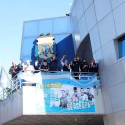 استقبال از مسی و تیم ملی آرژانتین در بوئنوس آیرس