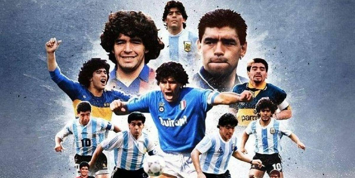 تصویر دیدنی جلد اصلی 144 روزنامه برای مارادونا