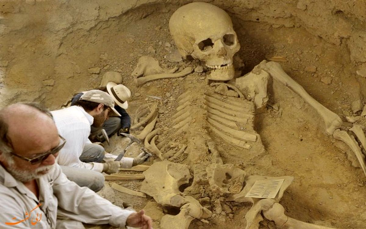 کشف اسکلت انسانهای غول پیکر|تصاویر باورنکردنی