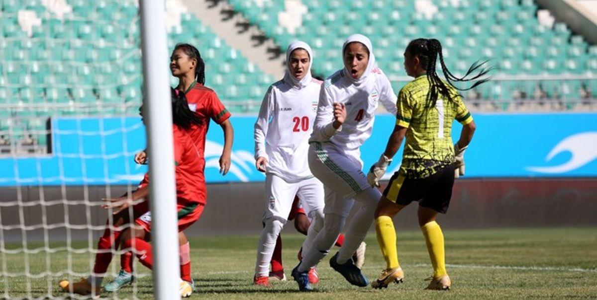 فیلم ضربات پنالتی و صعود بانوان به جام ملتهای آسیا
