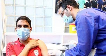 تصاویر تزریق واکسن کرونا به کادر و کاپیتان تیم ملی فوتبال