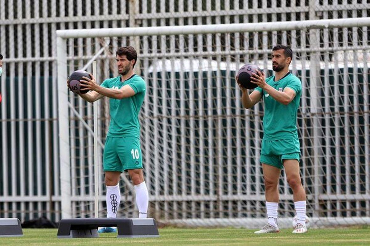 برگزاری نخستین تمرین تیم ملی فوتبال در سال جدید