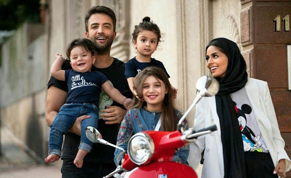 تشویق همسر بنیامین بهادری به تظاهرات در ایران!   عکس شایلی محمودی در آمریکا