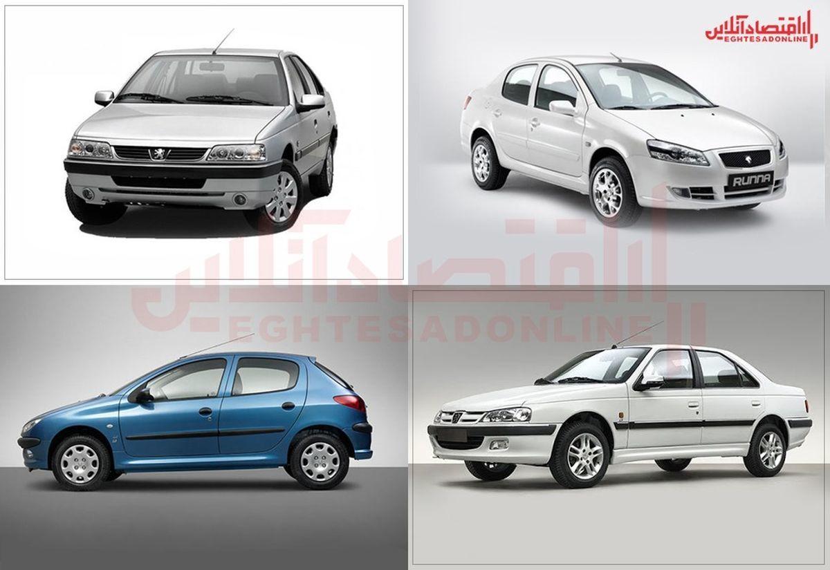 جدیدترین قیمت خودرو|تغییر ۱۰ تا ۳۵ میلیونی