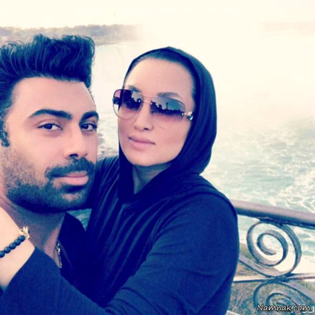 عاشقانه روناک یونسی و همسر مدلش لب اقیانوس